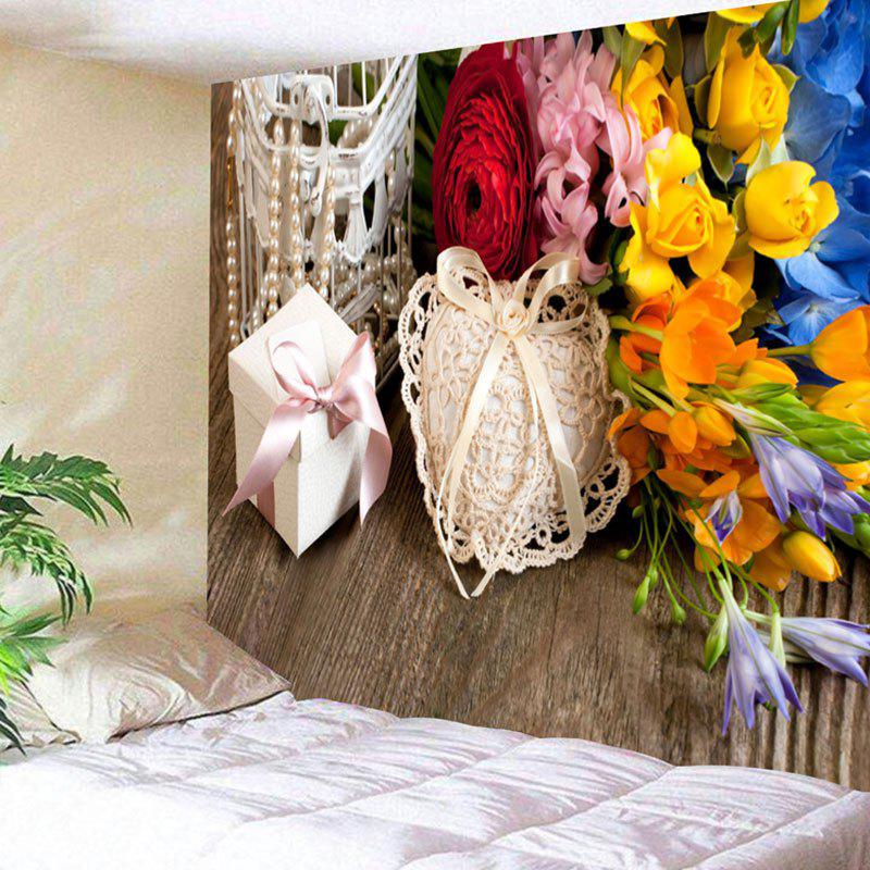 Buy Wall Hanging Flowers and Gift Print Tapestry