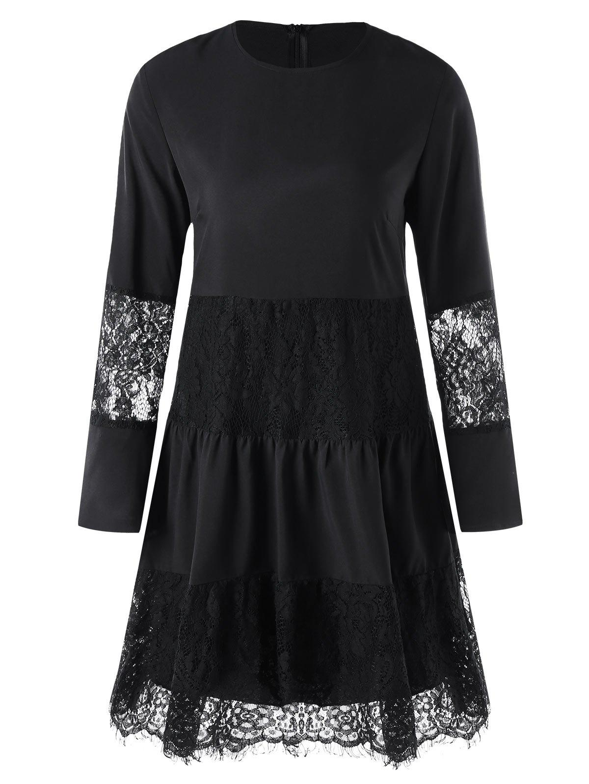 Hot Lace Panel Dress with Slip Dress