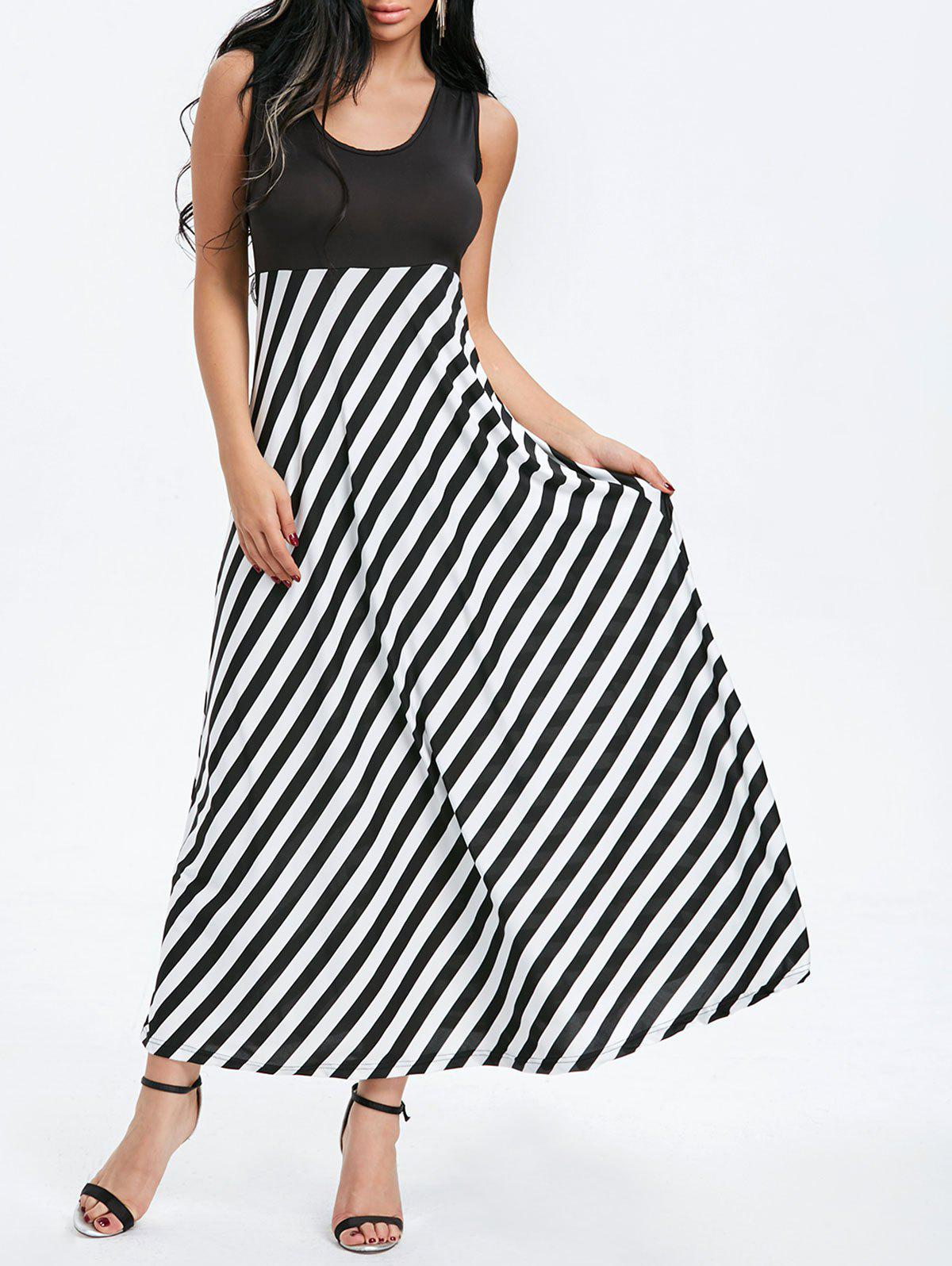 Best Sleeveless Striped Maxi Dress