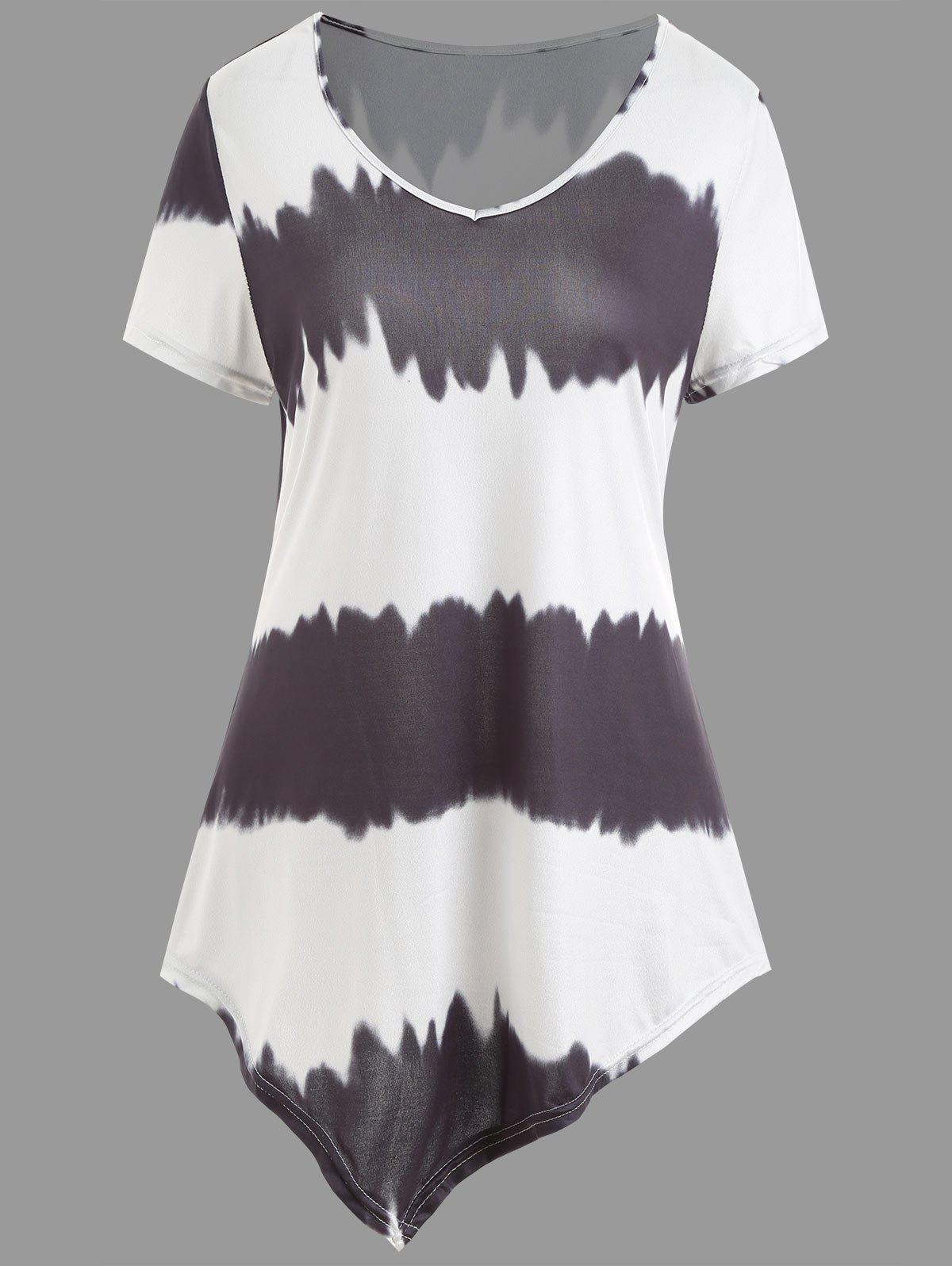 New Ombre Asymmetrical Plus Size Tee