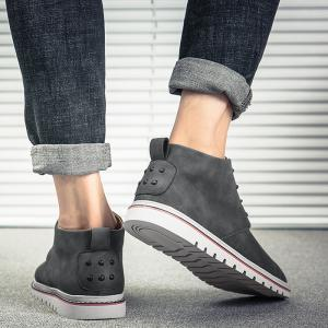 Studded Embellished Faux Leather Casual Shoes -