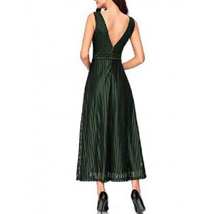 Back V Party A Line Dress -