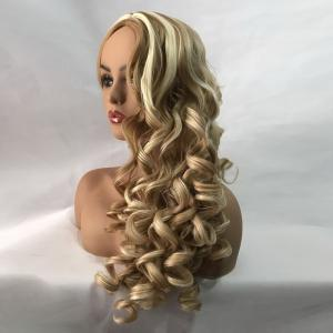 Long Center Parting Colormix Fluffy Body Wave Synthetic Wig -