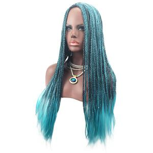 Long Center Parting Colormix Crochet Braids Synthetic Cosplay Wig -