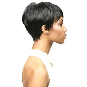 Short Side Bang Straight Capless Synthetic Wig -
