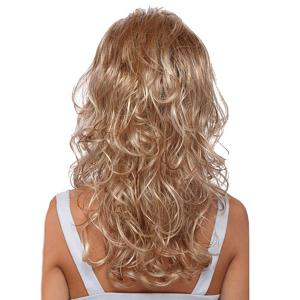 Long Ombre Side Bang Fluffy Curly Synthetic Wig -