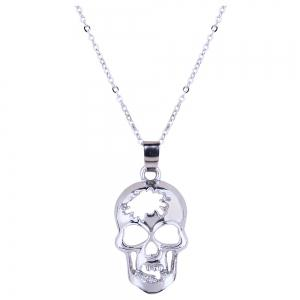 Hollow out Skull Necklace and Stud Earrings Set -