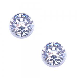 Artificial Diamond Star Necklace and Stud Earrings Set -