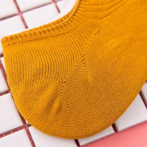 Simple Solid Color Crochet Knitted Ankle Socks -