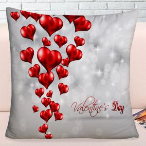 Valentine's Day Love Hearts Print Throw Pillowcase -