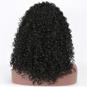 Long Fluffy Afro Kinky Curly Synthetic Wig -