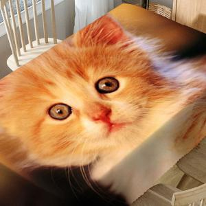 Cute Cat Pattern Microfiber Waterproof Table Cloth -