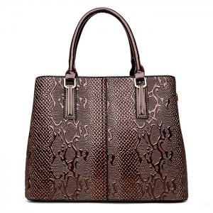 PU Leather 2 Pieces Embossing Handbag Set -