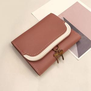 Faux Leather Tri Fold Wallet -