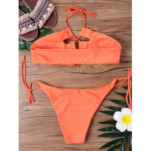Self Tie Halter Bikini Set -