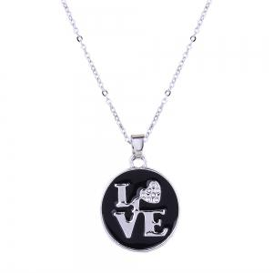 Valentine's Day Gifts Love Necklace and Stud Earrings Set -