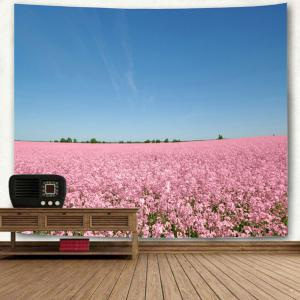 Wall Hanging Flower Field Scenery Printed Tapestry -