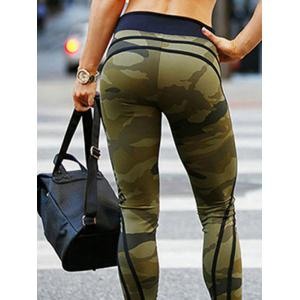 Camouflage Print Active Leggings -