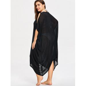 Plus Size Sheer Lattice Neck Cover-ups -