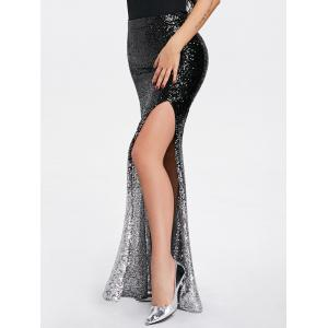 Shiny Sequins Ombre High Slit Maxi Юбка -