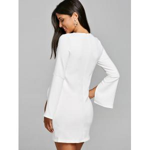 Split Sleeve Shift Mini Dress -