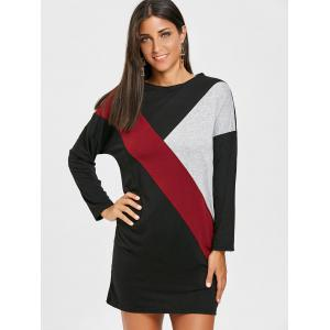 Color Block Mini Tee Dress -