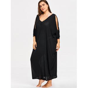 Plus Size Criss Cross Cover Up Dress -