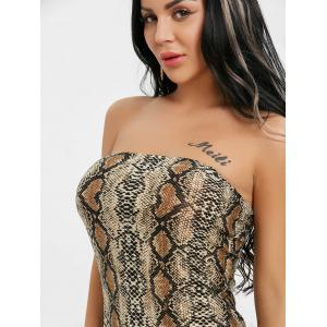 Snake Print Bodycon Tube Dress -