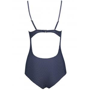 Polka Dot Backless One Piece Swimsuit -