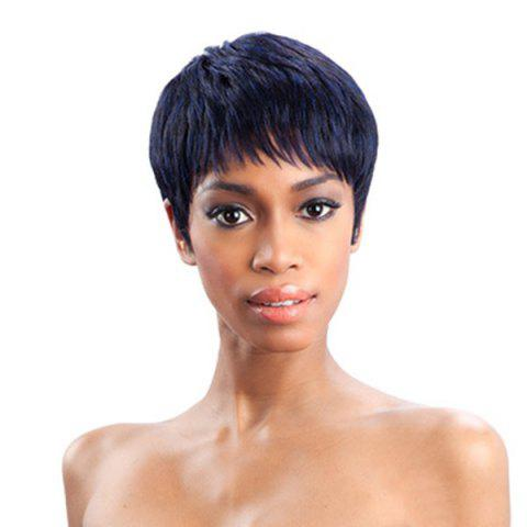 Discount Short Side Bang Straight Heat Resistant Synthetic Wig