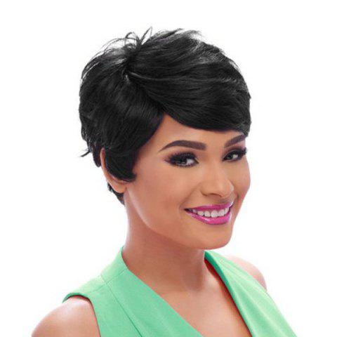 Buy Short Oblique Bang Fluffy Straight Synthetic Wig