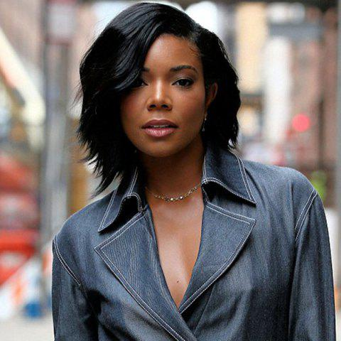 Chic Short Side Parting Wavy Capless Synthetic Wig