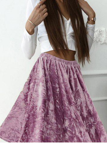 Discount High Waist Velvet Skater skirt