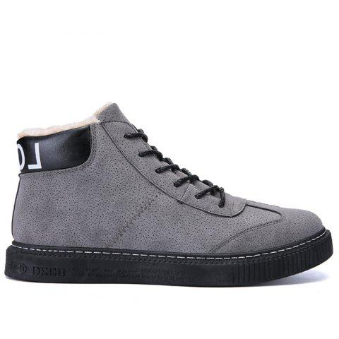 Fancy Lace Up Cold Weather Boots