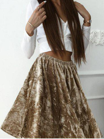 Hot High Waist Velvet Skater skirt