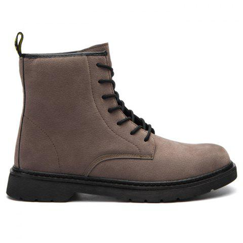 Chic Back Pull-tab Lace Up Chukka Boots
