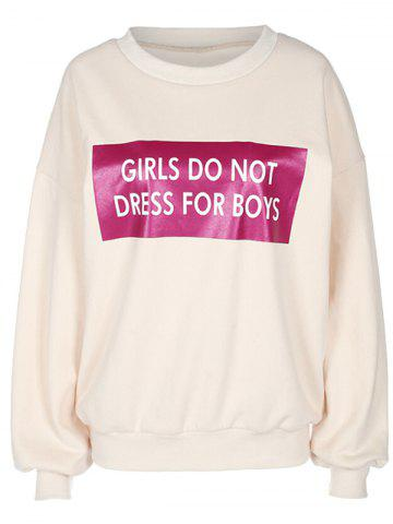 Outfits Letter Pattern Long Sleeve Pullover Sweatshirt