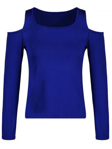 Latest Square Neck Cold Shoulder T-shirt