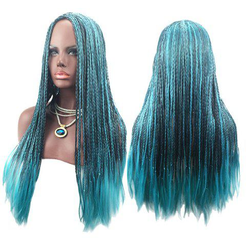 Discount Long Center Parting Colormix Crochet Braids Synthetic Cosplay Wig