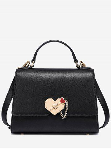 Outfits Metal Embellishment Heart Handbag