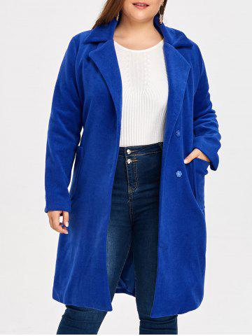 Online Wool Blend Belted Plus Size Trench Coat
