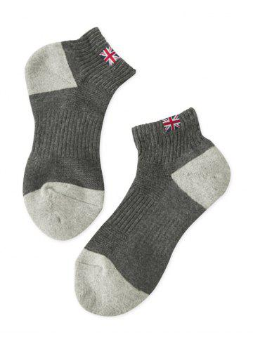 Discount The Union Flag Pattern Anklet Socks