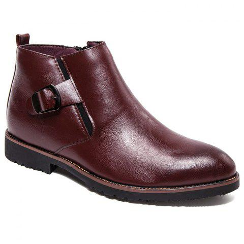 Affordable Zip Buckle Pointed Toe Chukka Boots