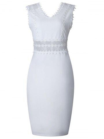 Unique Sleeveless Back V Bodycon Dress