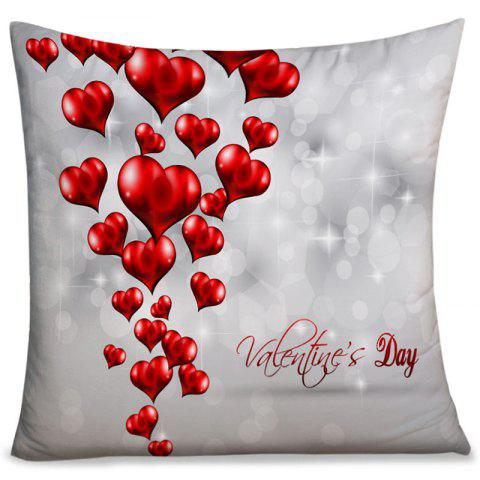 Online Valentine's Day Love Hearts Print Throw Pillowcase