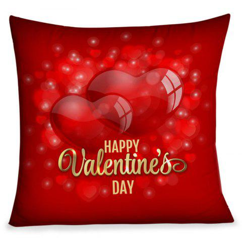 Unique Happy Valentine's Day Hearts Print Square Pillowcase
