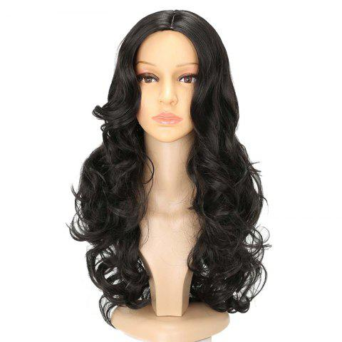 Fashion Long Center Parting Wavy Synthetic Capless Wig