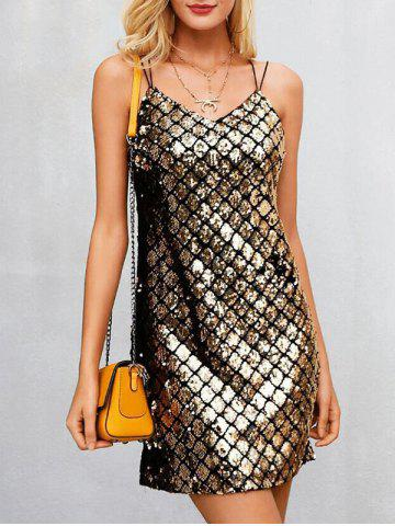 Shops Spaghetti Strap Sequin Dress