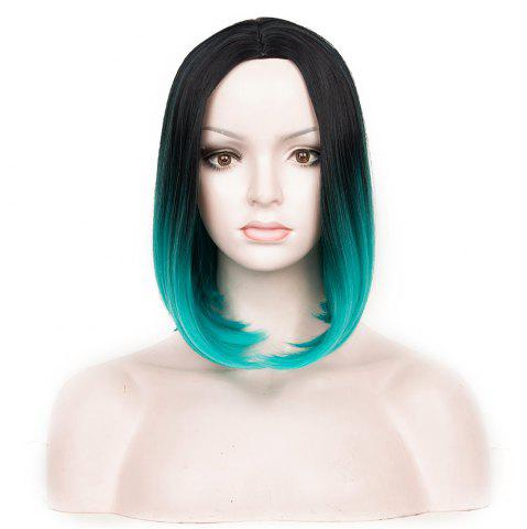 Store Medium Center Parting Ombre Straight Bob Synthetic Wig