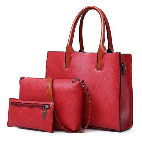 Outfits Faux Leather Tote Handbags Set 3 Pieces